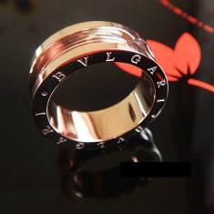 Inel placate cu aur - Inel Bvlgari Rose -model unisex, 18KGP