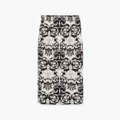 Fusta dreapta cu imprimeu Zara colectia 2015 Noua!!, Marime: S, Culoare: Din imagine, Poliester
