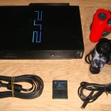 PlayStation 2 Sony Modat+Network Adapter si HDD 80GB Plin cu Jocuri