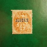 Franta colonii Algeria supratipar 4C nestampilat fara guma fara sarniera