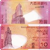 Bancnota Straine, Asia, An: 2010 - MACAU 10 patacas 2010 UNC!!!