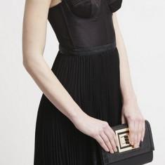 Vand rochie Guess combinata cu top stil corset si fusta cu pliseuri. - Rochie de club Guess, Culoare: Negru, Marime: S, M, L, Midi