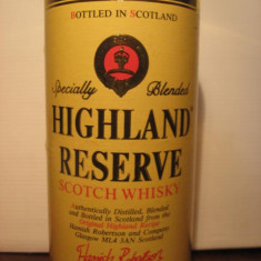 RARE sticla whisky highland reserve scotch whisky, cl.70 gr. 40,