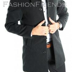 Palton tip ZARA negru - palton barbati - palton slim fit - STOC LIMITAT 5410