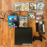 PlayStation 3 Sony Slim 320 GB+PlayStation Move+7 Jocuri STARE PERFECTA!!!