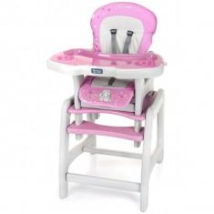 Scaun Masa Multifunctionala Stars Roz - Masuta/scaun copii