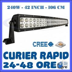 Lumini de zi ZDM, Universal - PROIECTOR LED CREE CURBAT, COMBO BEAM, 106 CM 240W, 12V 24V, OFFROAD SUV UTILAJE