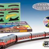 "Trenulet Electric Calatori ""Articulado"", Cu Macaz - Trenulet de jucarie Pequetren"