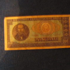 Bacnota100lei1966, An: 1966