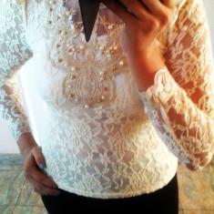 Bluza dama, Maneca lunga, Casual, Dantela - Bluza din dantela