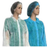 Cosmetice - Boneta medicala elastic alb PRIMA - set de 10 bucati - 0279-ALB