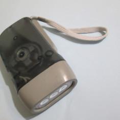 Lanterna fara baterie lanterna fara baterii lanterna manuala lanterna dinam led