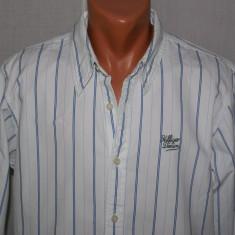 Camasa barbati Ralph Lauren Tommy HILFIGER Denim autentica marimea M / L alba cu dungi, Maneca lunga