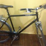 Bicicleta de oras, 19 inch, 28 inch, Numar viteze: 8, Aluminiu, Negru - Bicicleta Cresta
