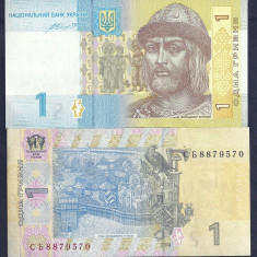 UCRAINA UKRAINA 1 HRIVNA GRIVNA 2014 [2] P-116 Ac, XF++ a UNC - bancnota europa