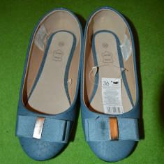 Pantofi copii - Pantofi fete / femei, marime 36, interior din piele, albastii, noi,
