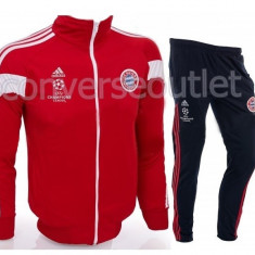 Trening barbati, Microfibra - Trening Adidas Bayern Munchen - Bluza si Pantaloni Conici - Pret Special -