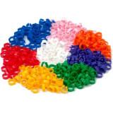 Inele porumbei colorate 100 buc