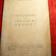 Eracle M.Sasana - Reportare sau impuneri anuale - Ed.Unirea 1945 - Carte despre fiscalitate