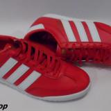 Adidasi barbati, Piele sintetica - Adidasi ADIDAS Beckenbauer - Negru / Rosu - NOUA COLECTIE 2016 !!!