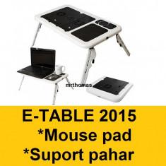 Masa Laptop - E-table Masa Masuta Suport notebook laptop 2 coolere + mouse pad suport pahar