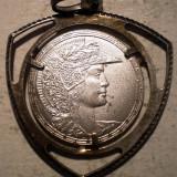 Pandantiv argint - I.682 PANDANTIV US MAURINA .800 ARGINT 27mm/3.0g
