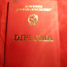Diploma si Note absolvire Academia Stefan Gheorghiu 1976 - Diploma/Certificat