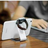 Suport birou Hoco,aluminiu,telefon,tableta iPhone,Samsung, Apple Watch, ARGINTIU