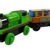 Wooden trenulet Thomas - PERCY cu SODOR LIBRARY BOOK din lemn cu magnet - NOU - Trenulet de jucarie, Unisex