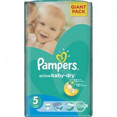 Scutece Pampers Active Baby Dry nr. 5 junior 11-18 kg 64 buc (1.01 lei/buc) - Scutece unica folosinta copii