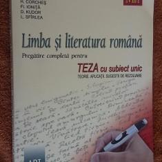 LIMBA SI LITERATURA ROMANA PREGATIE COMPLETA PENTRU TEZA A VIII A - Carte Teste Nationale, Art