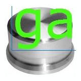 Buton Aluminiu, Φ40 mm, argintiu /57391