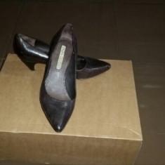 PANTOFI PIELE BUFFALO DAMA - Pantof dama Buffalo, Marime: 38.5, Culoare: Maro, Piele naturala