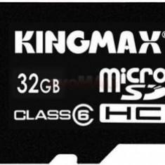 Kingmax, 32GB, KM32GMCSDHC61A, Clasa 6, Micro Secure Digital Card cu adaptor SD - Card memorie Kingmax, Micro SD