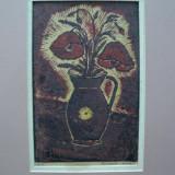 Tablou - Nicolae Brana, Vas cu maci