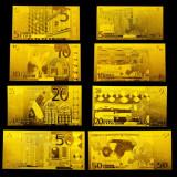 EUROPA - SET 7 BANCNOTE EURO POLYMER AURITCU AUR 24k