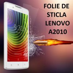 FOLIE de STICLA securizata LENOVO A2010, 0.33mm, 2.5D, 9H tempered glass - Folie de protectie Lenovo, Anti zgariere