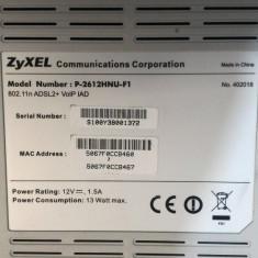 Router ZyXEL Model P-2612HNU-F1, Port USB, Porturi LAN: 4, Porturi WAN: 1