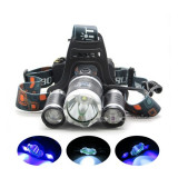 MEGA Lanterna Frontala 3 LED CREE | 1 XML T6 + 2 R5