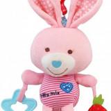 Plus Minnie si Mickey Baby Mix - Jucarie muzicala din plus Pink Rabbit