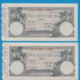 100000 lei 1946 20 decembrie Serii Consecutive