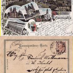 Cernauti, Bucovina - litografie 1898 - Carte Postala Bucovina pana la 1904, Circulata, Printata