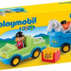 1.2.3. Masina Cu Remorca Si Cal Playmobil