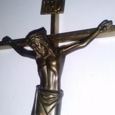 Crucifix alama si bronz pentru perete - 25cm x13cm