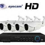 Camera CCTV - Kit supraveghere AHD cu 4 camere 1MP si DVR Eyecam EC-AHD-KIT5014