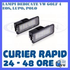 Led auto ZDM, Universal - SET LAMPI NUMAR INMATRICULARE 18 LED SMD - VW GOLF 4, EOS, LUPO, POLO