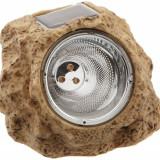 Gradinarit - Ornament luminos model piatra cu lumina solara