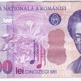 Bancnota 50.000 lei 2000 ( 50000 lei 2000 ) George Enescu Sfinxul Bucegi (4)