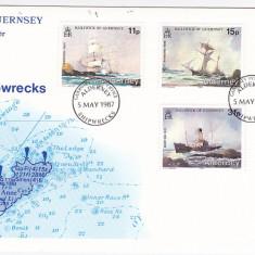 Transport, navigatie, corabii, harti, Alderney.