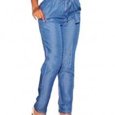 CL558 Pantaloni Harem Style, cu talie inalta si cordon - Pantaloni dama, M, S/M